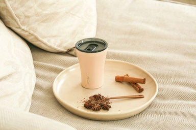 STTOKE REUSABLE COFFEE CUP 8oz - Ivory Chai - Thermal Mugs - Sttoke - Naiise