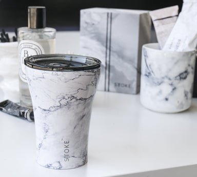 STTOKE REUSABLE COFFEE CUP 8oz - Luna Marble - Thermal Mugs - Sttoke - Naiise