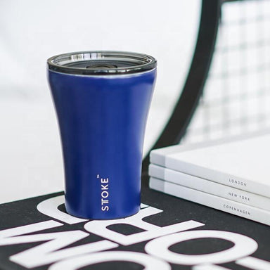 STTOKE REUSABLE COFFEE CUP 8oz - Magnetic Blue Thermal Mugs Sttoke