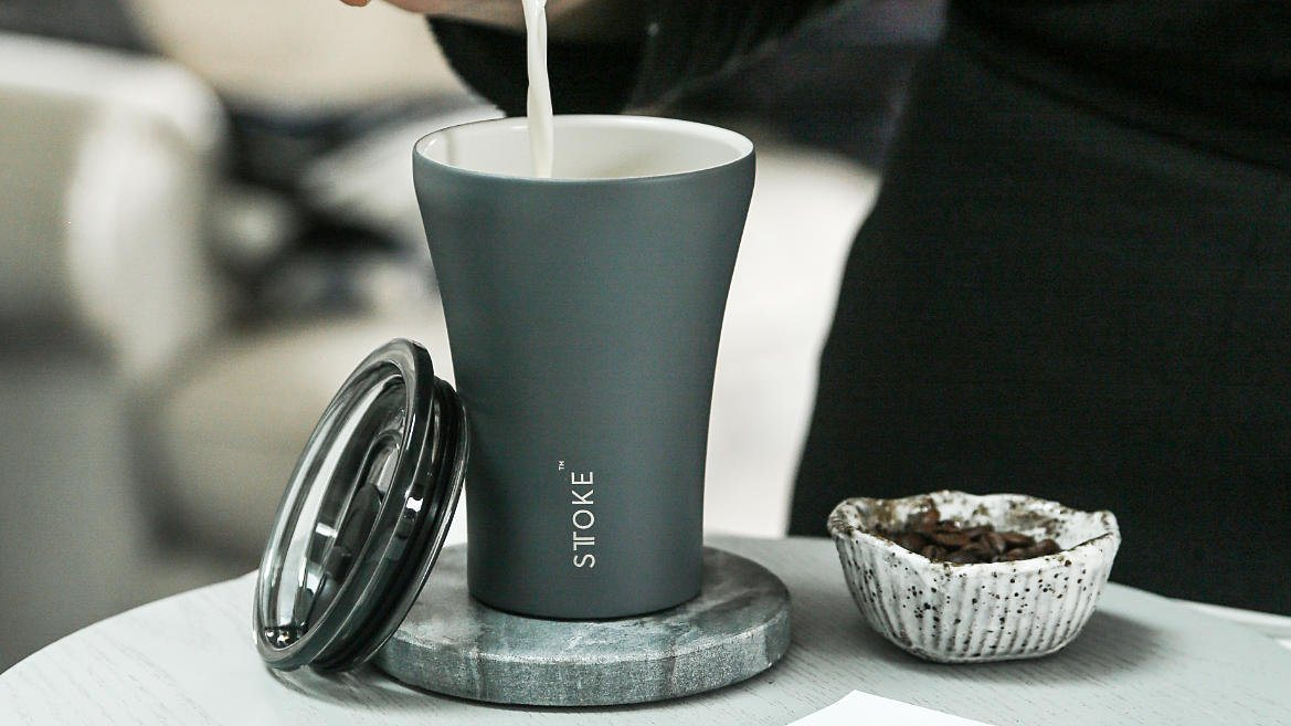 STTOKE REUSABLE COFFEE CUP 8oz - Slated Grey Thermal Mugs Sttoke
