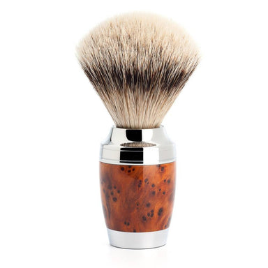 Stylo shaving brush, thuja wood with silvertip badger hair - Shaving Brush - MÜHLE Singapore - Naiise