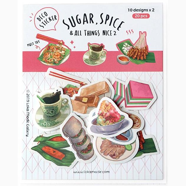 Sugar, Spice & All Things Nice Deco Sticker Pack - Set 2 Local Postcards Little Red Box