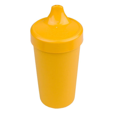 Sunny Yellow No-Spill Sippy Cup Children Cutlery Re-Play