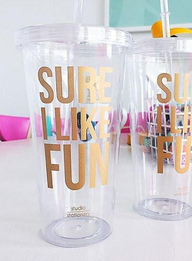 Sure I Like Fun Sippy Cup - Cups - Studio Stationery - Naiise