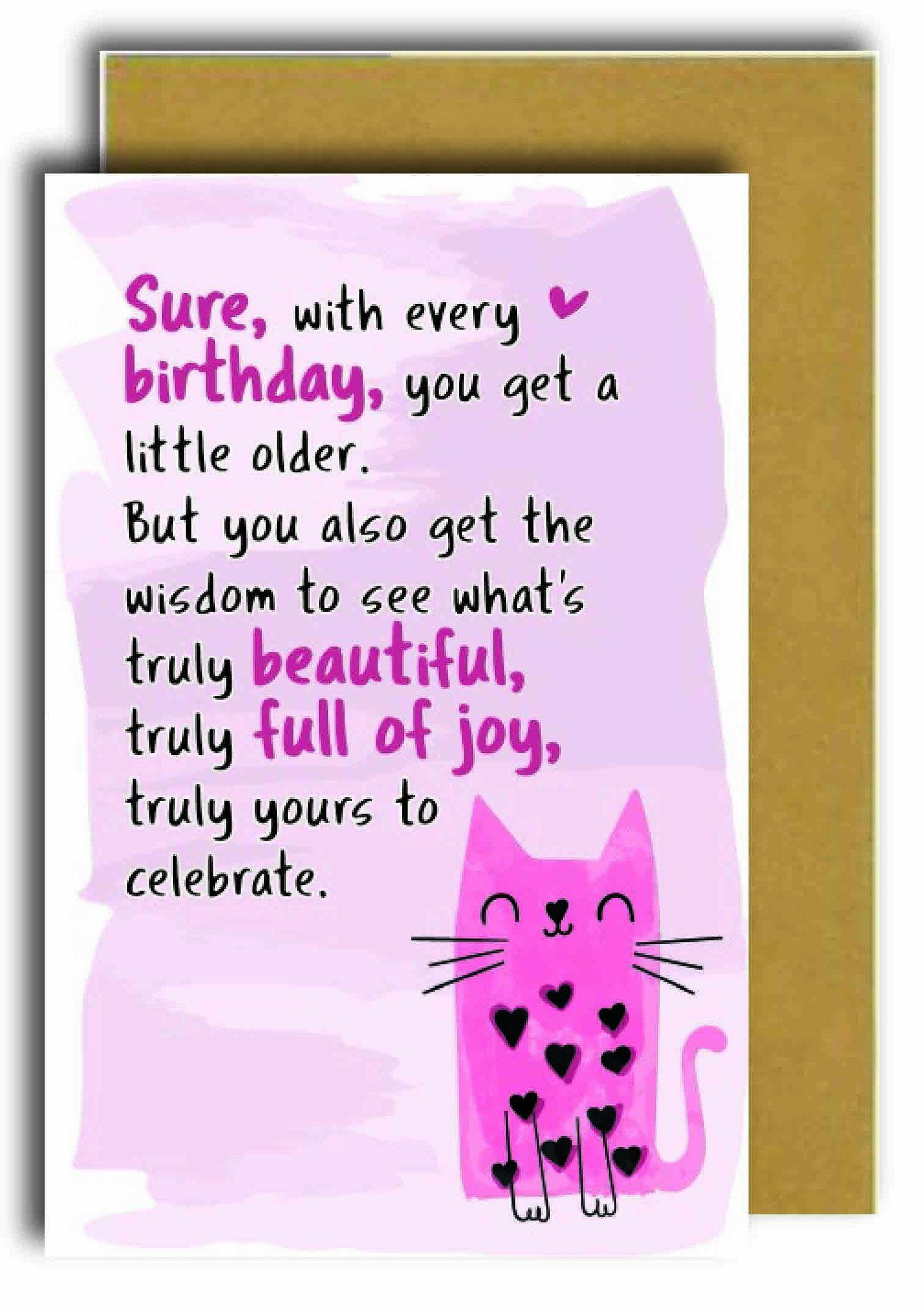 Sure, With Every Birthday Greeting Card - Naiise