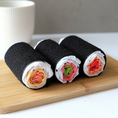 Sushi Roll Grocery Bag - Salmon & Egg - Tote Bags - The Daydreamer Studio - Naiise