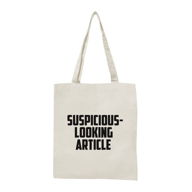 Suspicious-Looking Article Tote Bag Local Tote Bags Statement