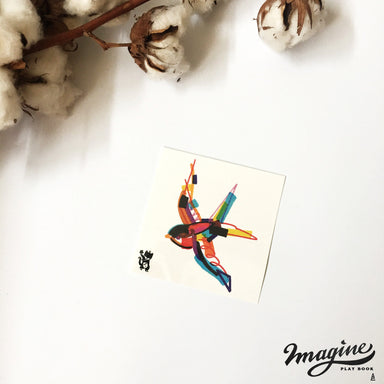 Swallow Colour Bash Temporary Tattoo - Temporary Tattoos - Imagine Playbook - Naiise