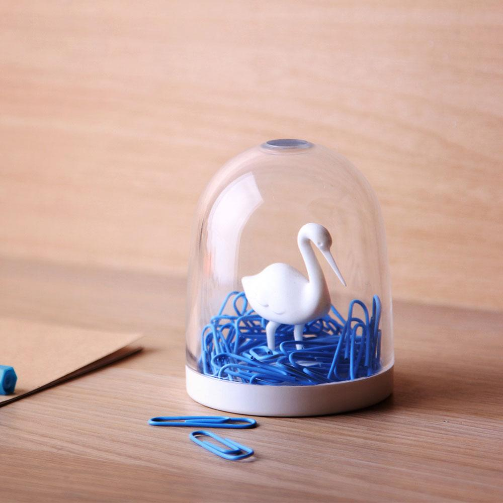 Swan In The Pond Paper Clip Holder Desk Organisation Qualy