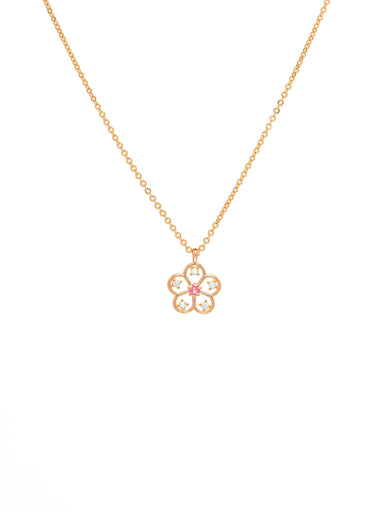 Sweet Aubrieta- A Cheerful, Delicate Flora Necklace made with Swarovski Elements - Necklaces - Forest Jewelry - Naiise