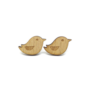 Sweet Little Bird Laser Cut Wood Earrings - Earrings - Paperdaise Accessories - Naiise
