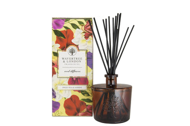 Sweet Pea and Jasmine Reed Diffuser Diffusers Wavertree & London