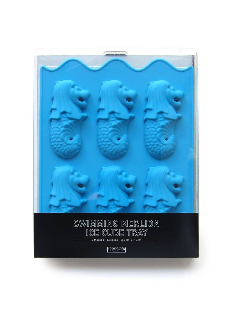 Swimming Merlion Ice Cube Tray Kitchenware LOVE SG