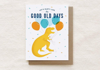 T-Rex - Happy Birthday Greeting Card Birthday Cards Quirky Paper Co.