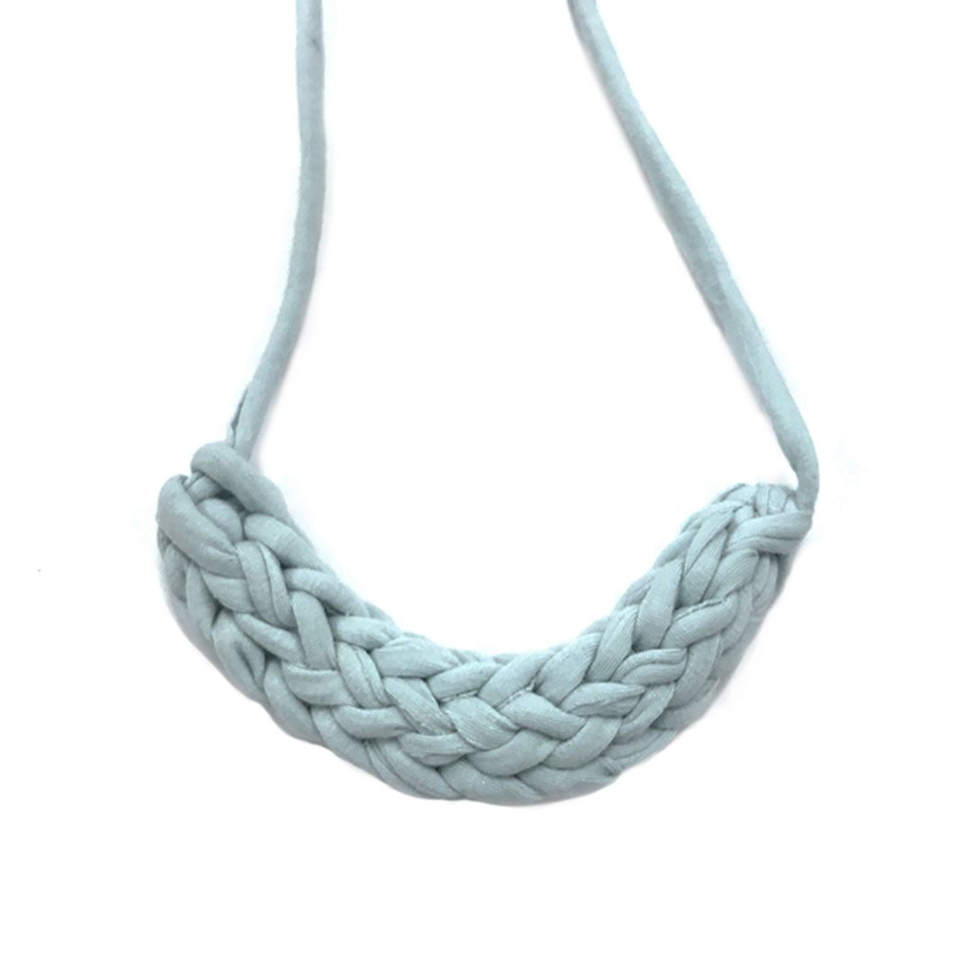 T-shirt Yarn Necklace Necklaces Indie Mama Light Blue