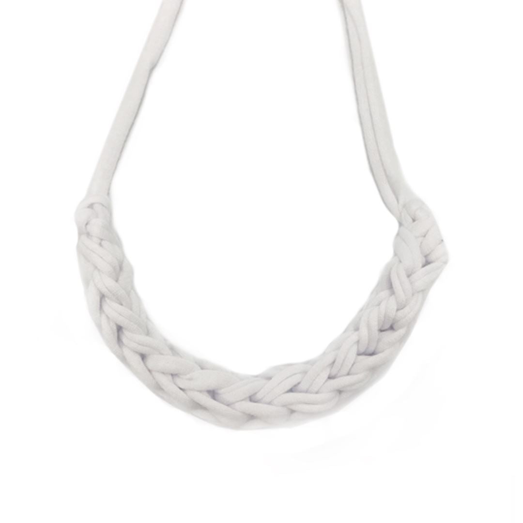 T-shirt Yarn Necklace Necklaces Indie Mama Light Grey
