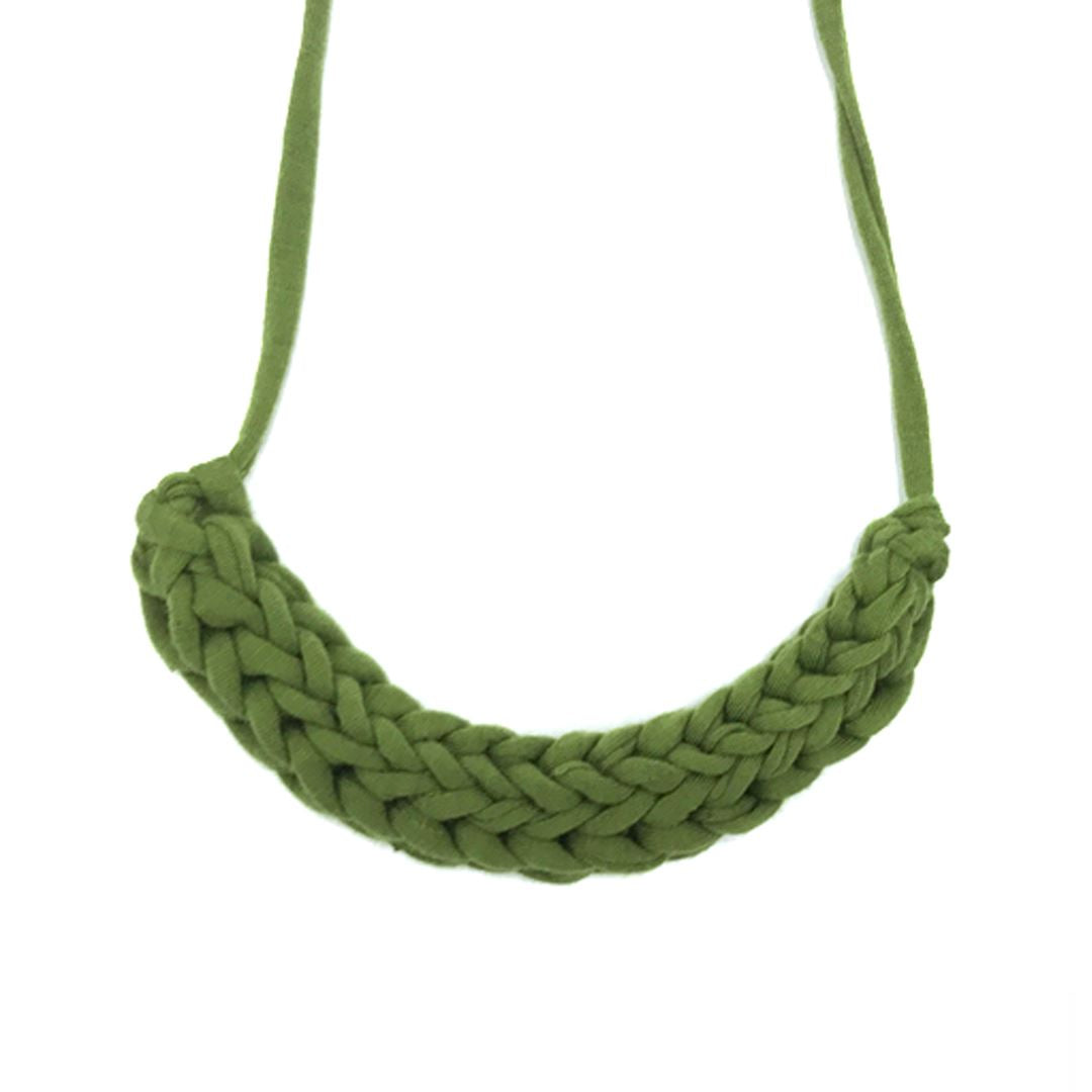 T-shirt Yarn Necklace Necklaces Indie Mama Olive