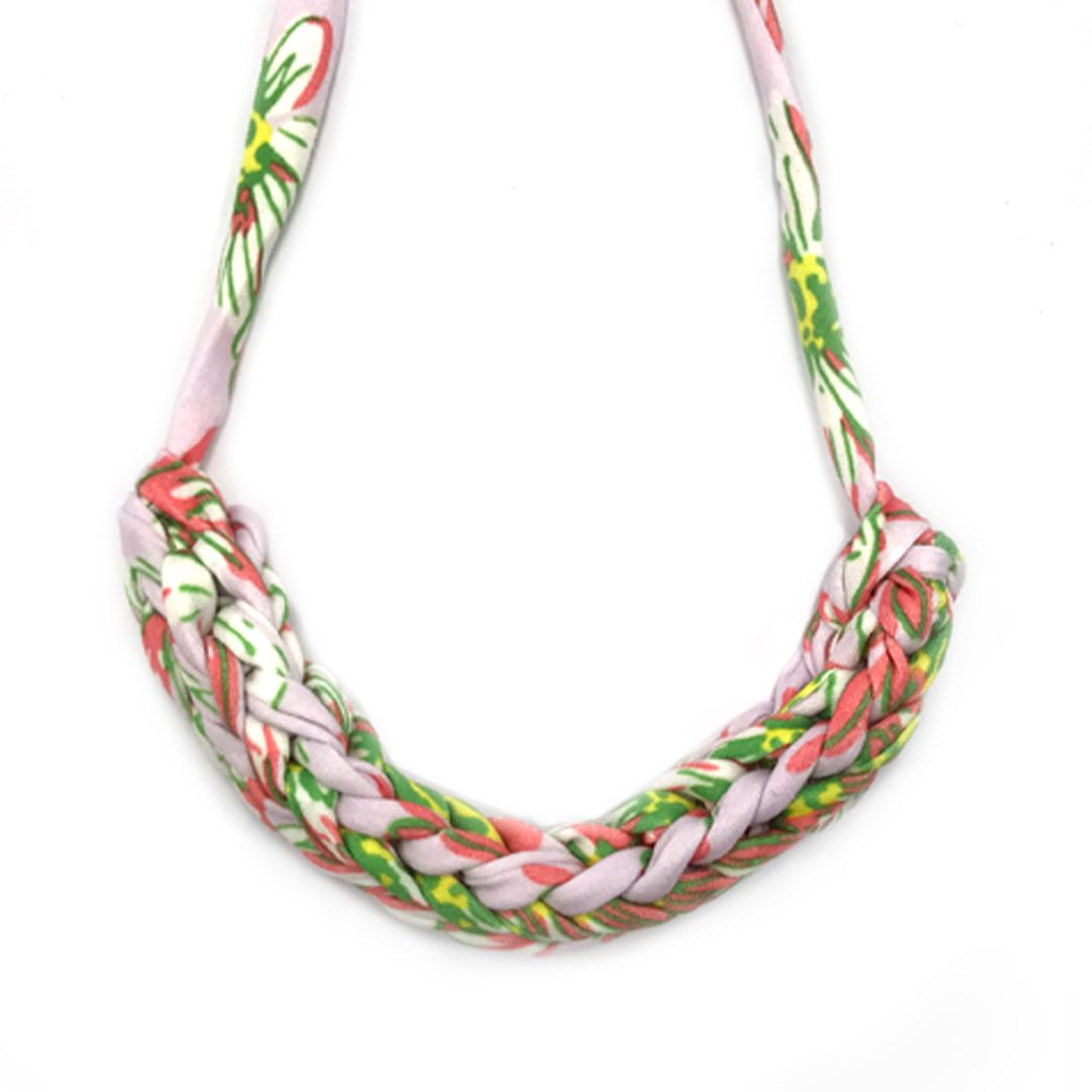 T-shirt Yarn Necklace Necklaces Indie Mama Tropical Pink