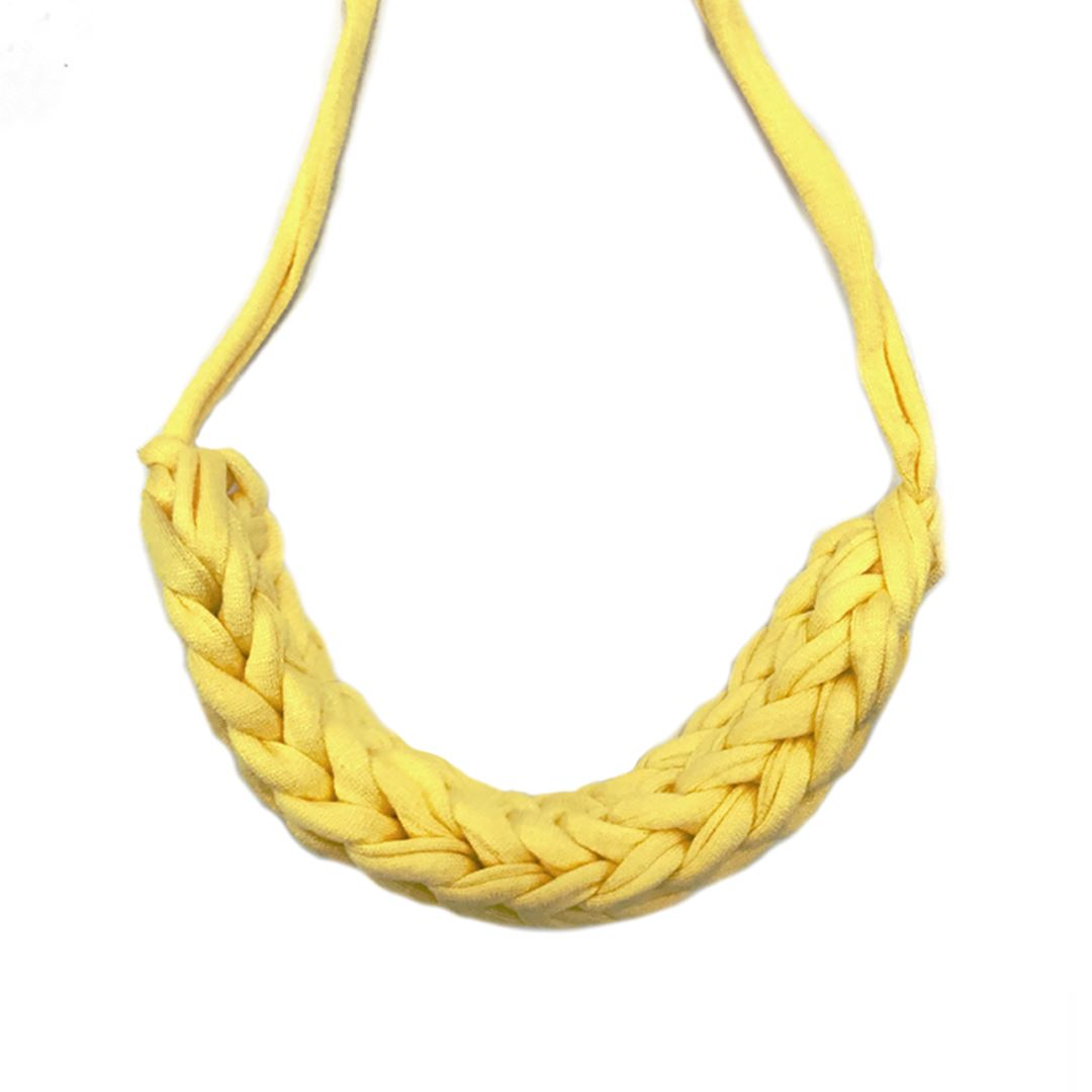 T-shirt Yarn Necklace Necklaces Indie Mama Yellow