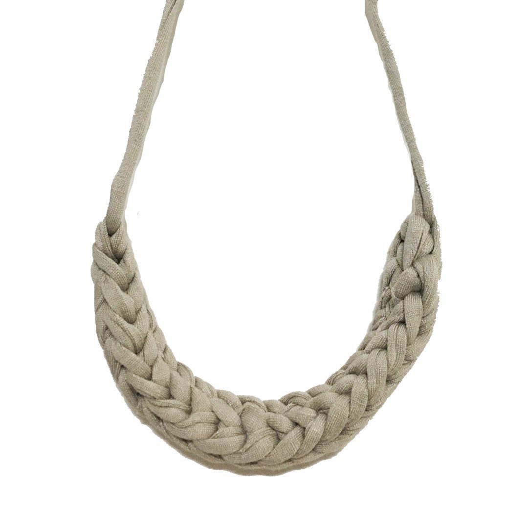 T-shirt Yarn Necklace - Pale Grey - Necklaces - Indie Mama - Naiise