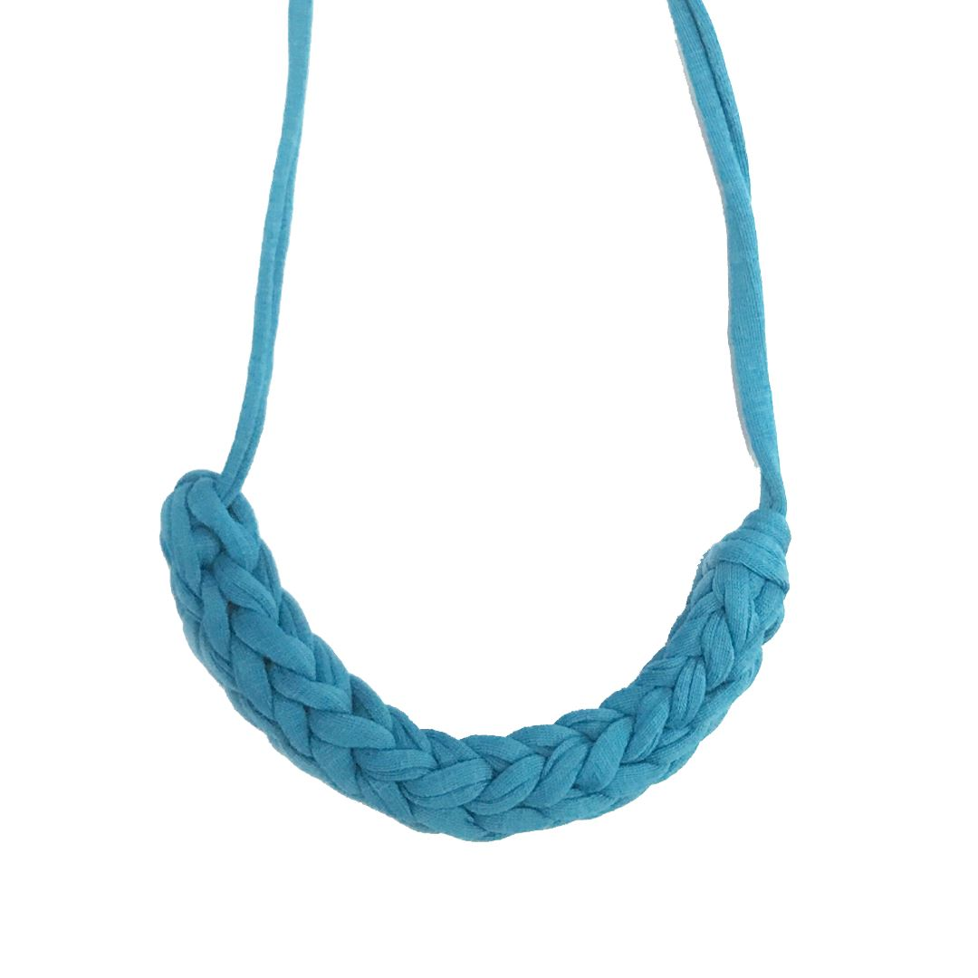 T-shirt Yarn Necklace - Turquoise Blue - Necklaces - Indie Mama - Naiise