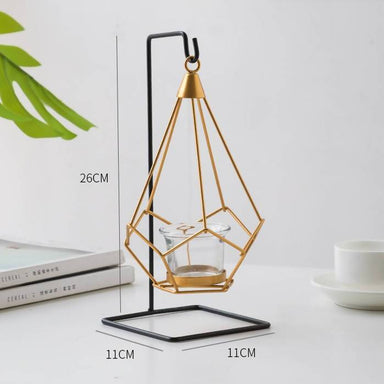 Nordic Elegance Geometric Hanging Tealight Candle Holder Scented Candles After Organic Single