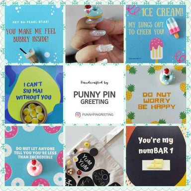 Pin-Cards ~ Encouragement Messages (Set of Assorted 10) - Encouragement Cards - Punny Pin Greeting - Naiise