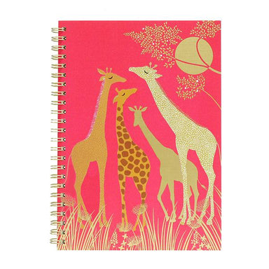 Tahiti Collection A5 Pink Giraffe Notebook Notebooks Sara Miller London