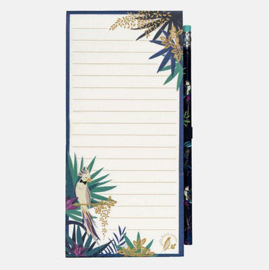 Tahiti Collection Cockatoo Magnetic Jotter and Pencil Notepads Sara Miller London