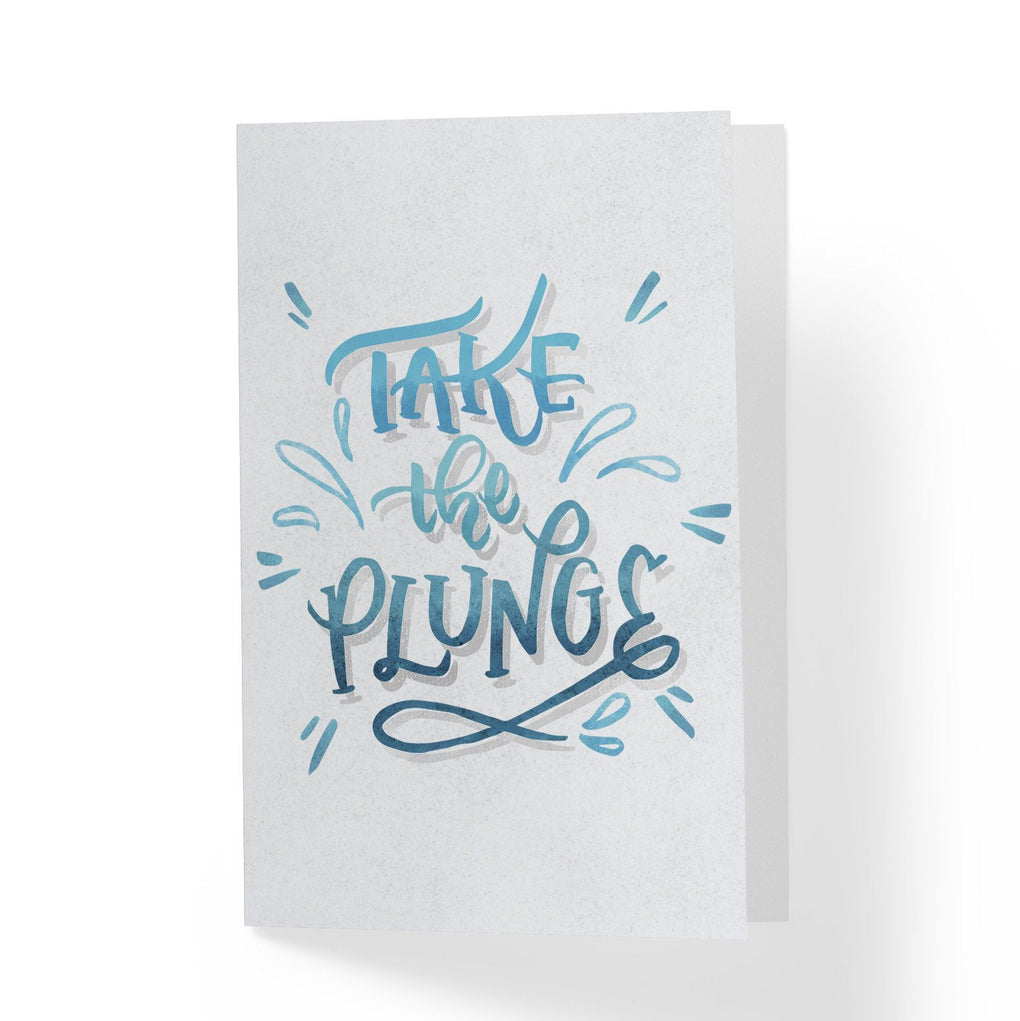 Take the Plunge Greeting Card Encouragement Cards A Wild Exploration