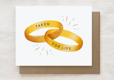 Taken For Life - Engagement, Wedding Greeting Card Wedding Milestone Cards Quirky Paper Co.