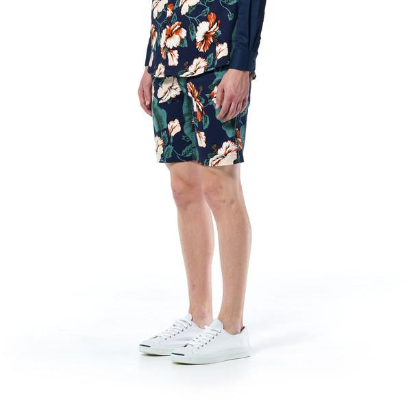 TALMAN Shorts - Navy Floral Men's Shorts Caveman