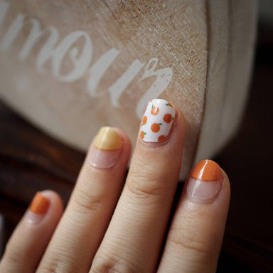 Tangy Orange Nail Wrap - Nail Wraps - Nails & Good Company - Naiise