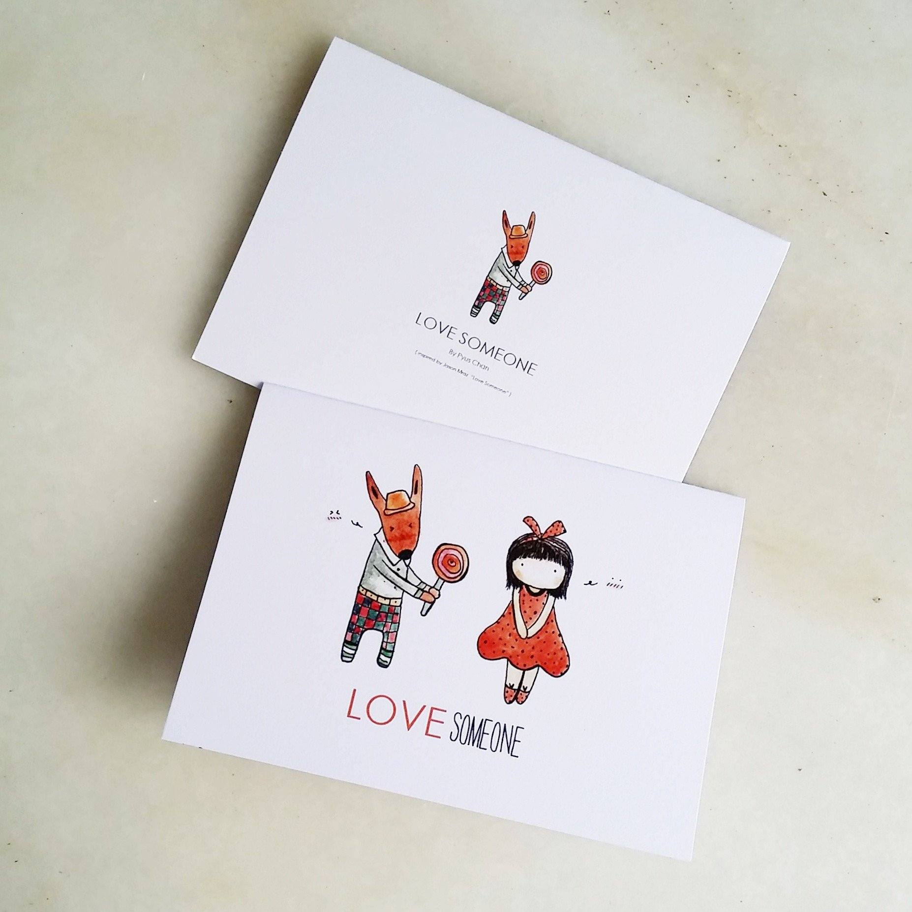 TDGHS Greeting Card - Love Someone Generic Greeting Cards TDGHS