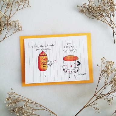 TDGHS Greeting Card - Siudai and Bread Generic Greeting Cards TDGHS