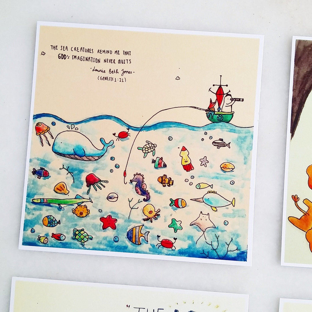 TDGHS Postcard - The Sea Creatures Generic Greeting Cards TDGHS