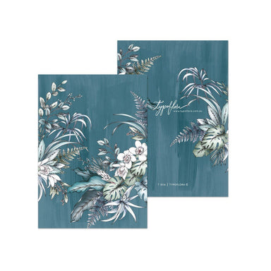 Teal Foliage Pocket Notebook - Notebooks - Typoflora - Naiise