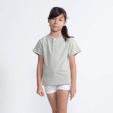 Tencel™ Harper Everyday Top With Button - Kids Clothing - twopluso - Naiise
