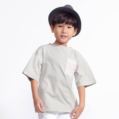 Tencel™ Harper Top With Checkered Pocket - Kids Clothing - twopluso - Naiise
