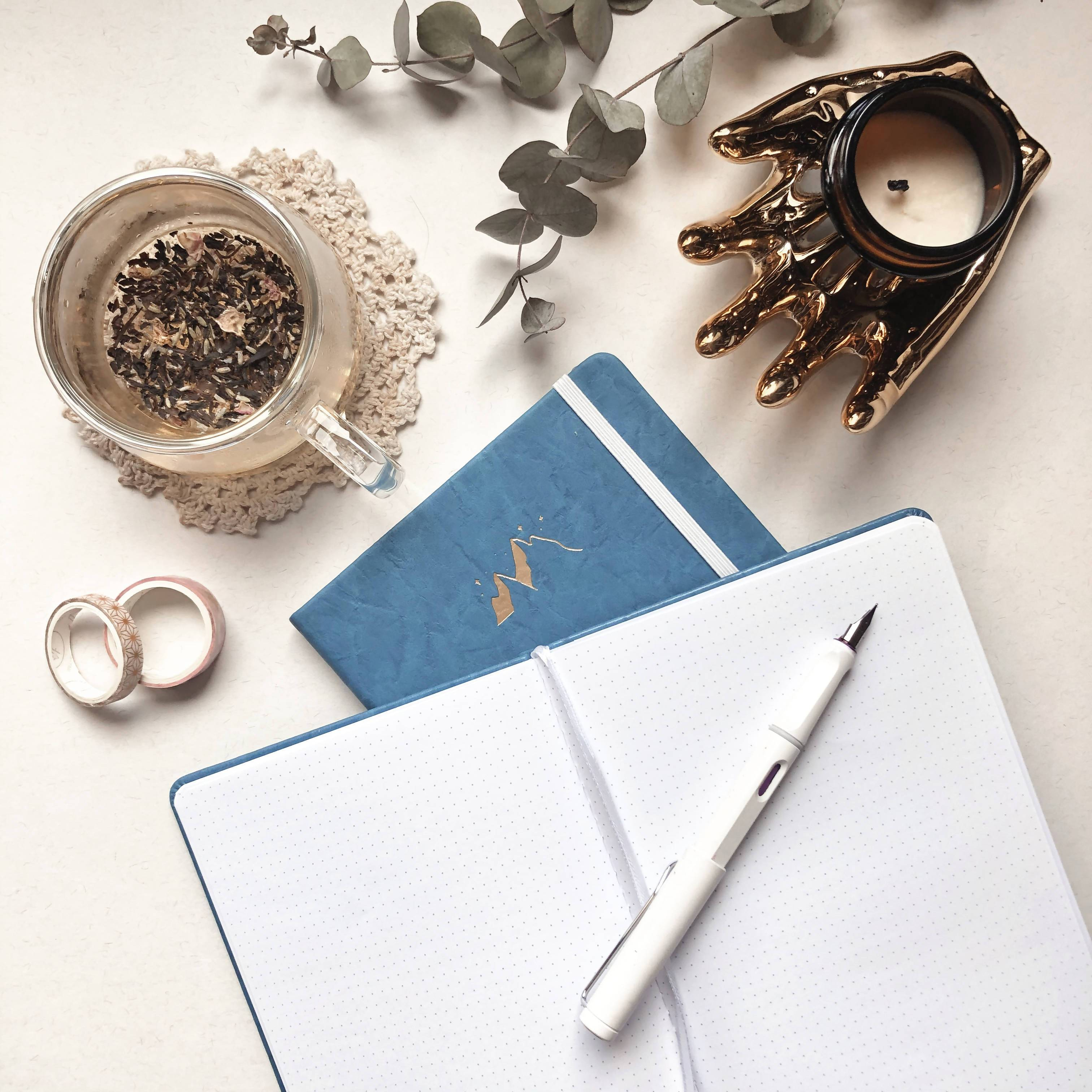Terra Collection | PU Leather A5 Dot Grid Journal New Arrivals Papercranes Design