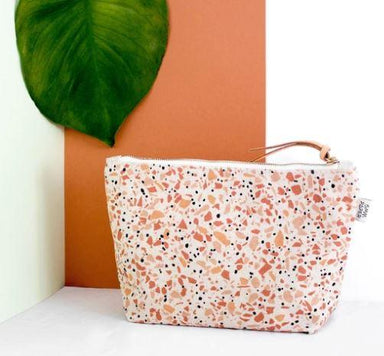 Terracotta Terrazzo Cosmetic Bag - Cosmetic Bags - 5mm Paper - Naiise