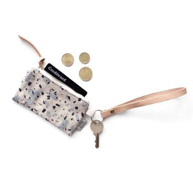 Terrazzo Blue Grey I Card Coin Pouch - Coin pouches - 5mm Paper - Naiise