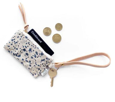 Terrazzo Blue Grey II Card Coin Pouch - Coin pouches - 5mm Paper - Naiise
