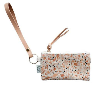 Terrazzo Terracotta Card Coin Pouch - Cosmetic Bags - 5mm Paper - Naiise