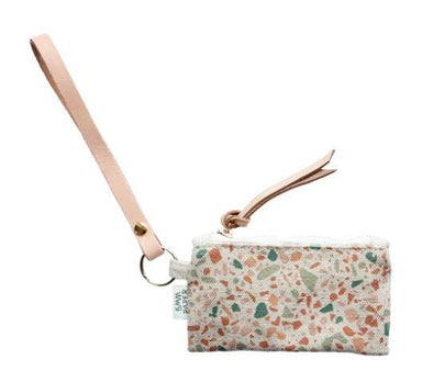Terrazzo Terracotta Green Card Coin Pouch - Coin pouches - 5mm Paper - Naiise