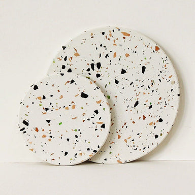 Terrazzo Tile in White Home Decor Actseed Co.