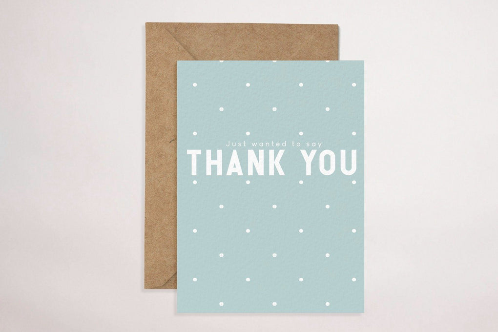 Thank You Card (Blue) Thank You Cards YOUNIVERSE DESIGN Default Title