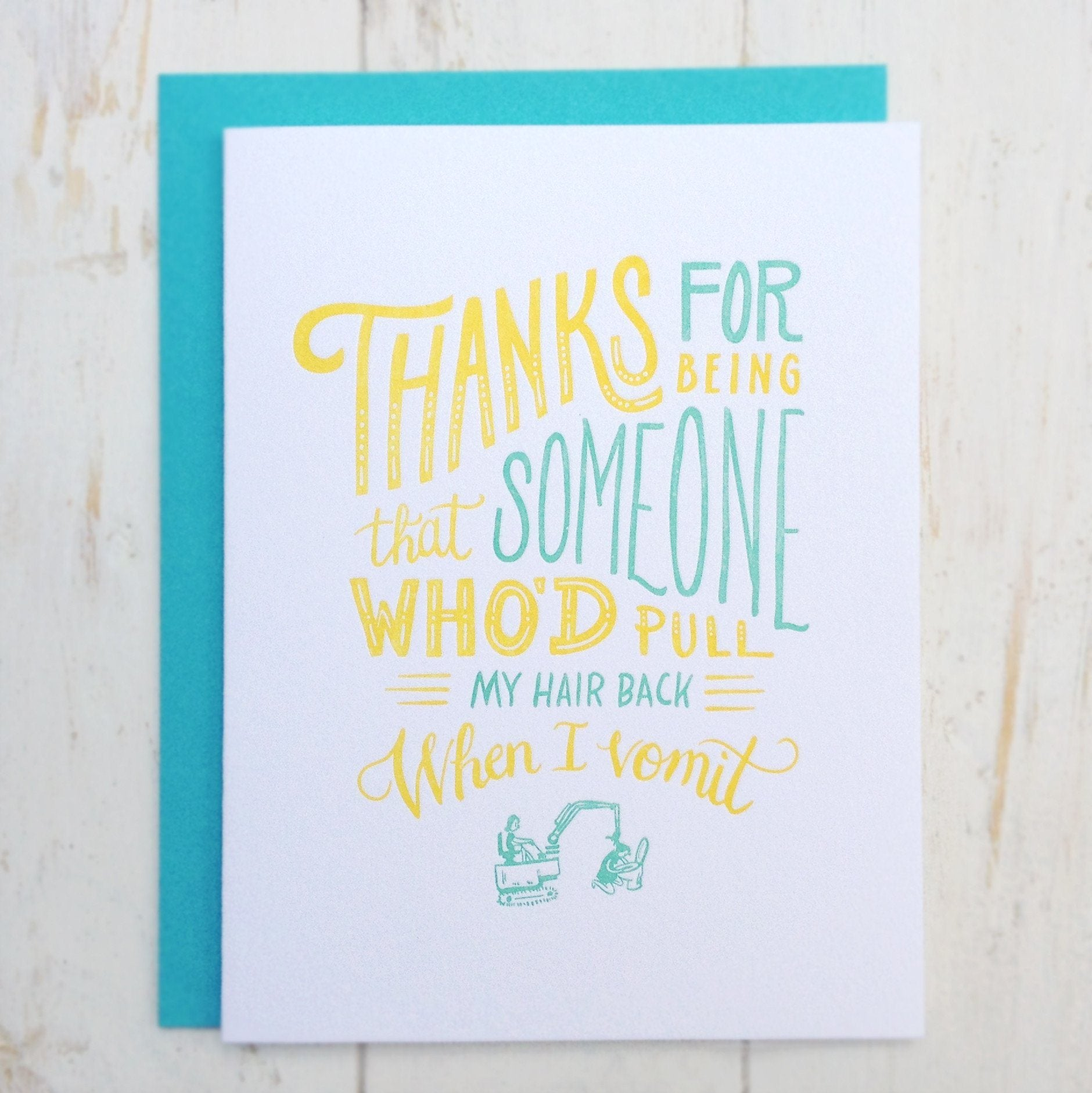 Thank You Card - Thank You Cards - The Fingersmith Letterpress - Naiise