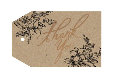 Thank You Floral Gift Tag - Gift Tags - Typoflora - Naiise