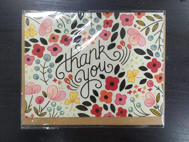 Thank You Flower Garden Card Thank You Cards Fevrier Designs